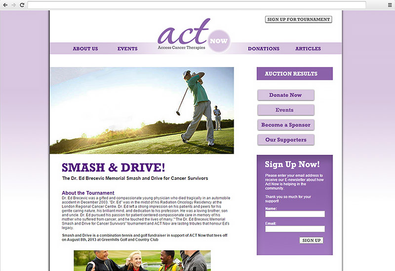 Act Now for Cancer Events Page