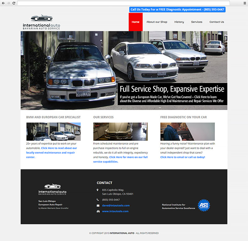 International Auto SLO Website