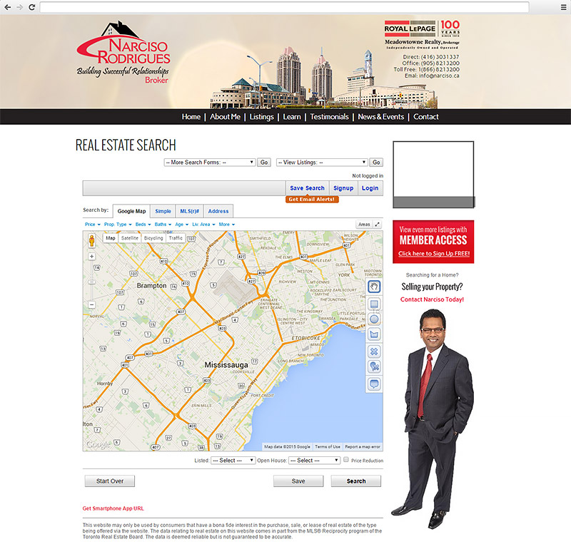Narciso Rodrigues Website Listing Page