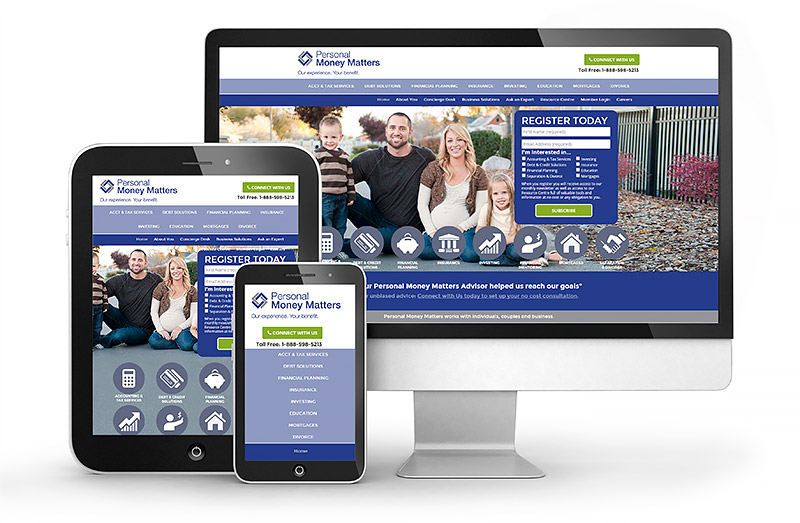 Personal Money Matters Responsive Website