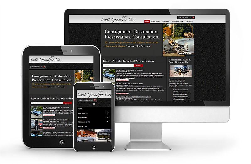 Scott Grundfor Responsive Website