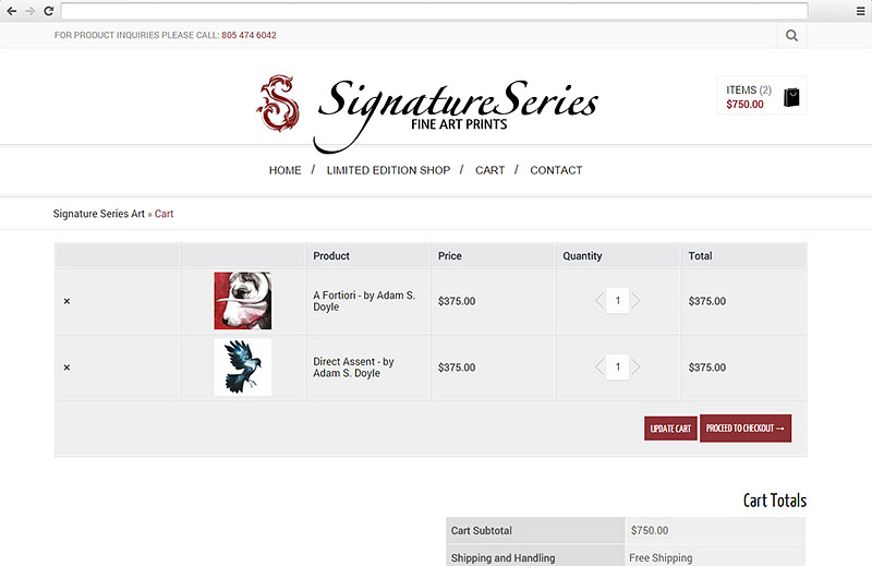 Signature Series Art Website
