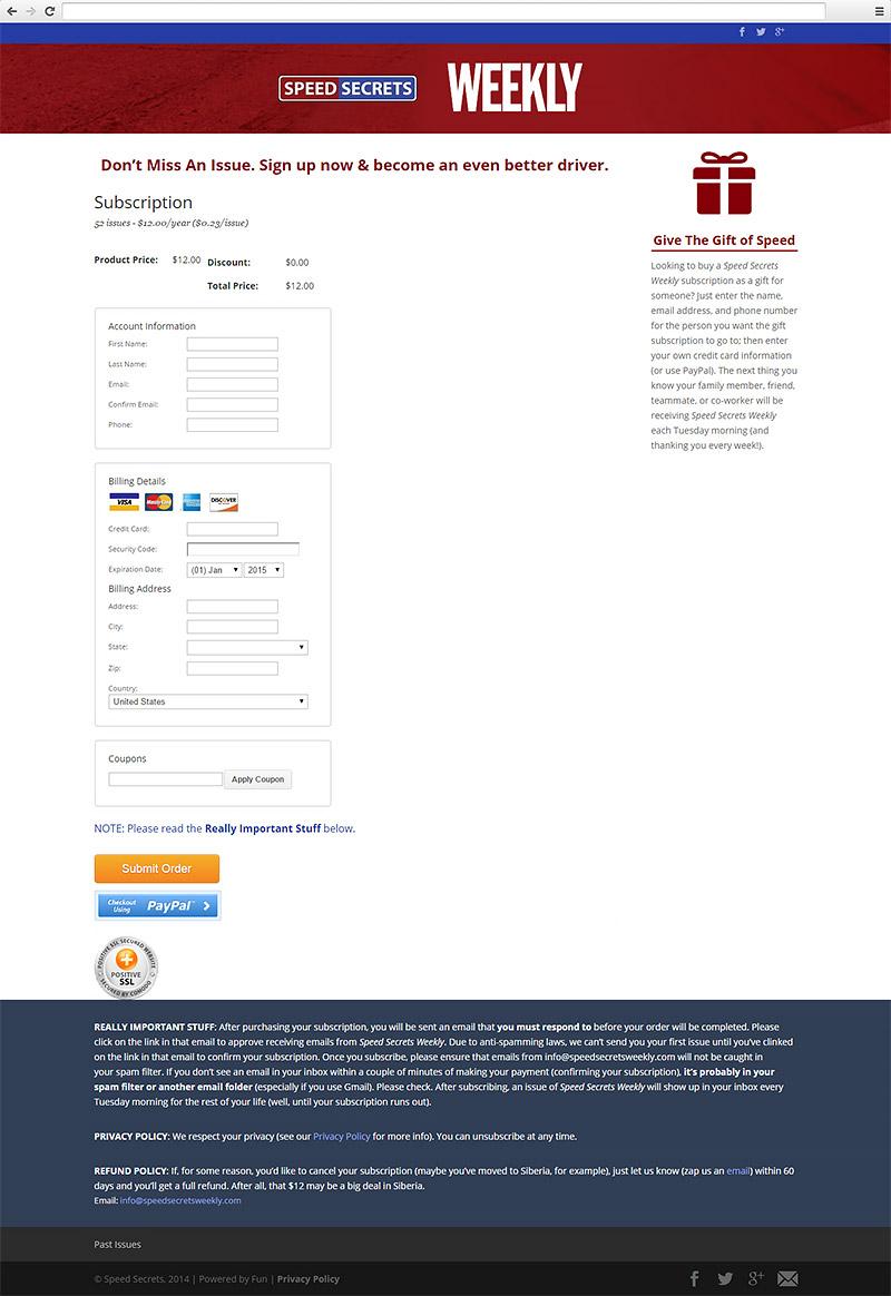 Speed Secrets Weekly Website